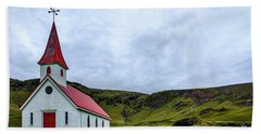 Vik Church And Cemetery - Iceland Hand Towel