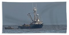 Hand Towel featuring the photograph Viking Fisher 1 by Randy Hall