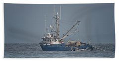Bath Towel featuring the photograph Viking Fisher 4 by Randy Hall