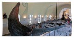 Viking Ship Bath Towel by Allan Levin