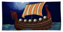 Viking Ship Hand Towel
