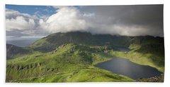 Vikvatnet And Morkdalsvatnet From Holandsmelen Hand Towel