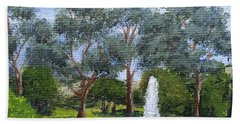 Village Fountain Hand Towel