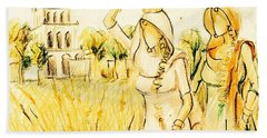 Punjabi Village Girls  Hand Towel