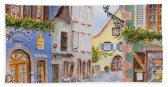 Village In Alsace Bath Towel by Mary Ellen Mueller Legault