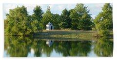Village In Ohio Bath Towel by Donald C Morgan