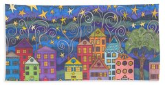 Village Lights Hand Towel