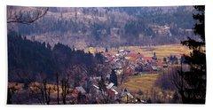 Village Of Lokve In Gorski Kotar  Bath Towel