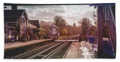 The Village Train Station Bath Towel