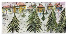 Village Winter Wonderland Bath Towel