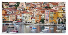Villefranche-sur-mer View In French Riviera Bath Towel
