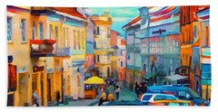 Vilnius At Paint Bath Towel