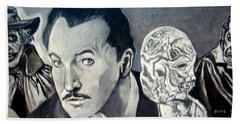 Bath Towel featuring the painting Vincent Price by Paul Weerasekera