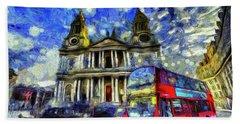 Vincent Van Gogh London Bath Towel