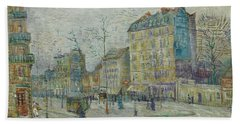 Vincent Van Gogh  The Boulevard De Clichy, Paris Bath Towel