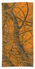 Vine Wood Abstract Bath Towel