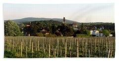 Vineyard In Austria Hand Towel by Christian Slanec