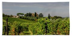 Bath Towel featuring the photograph Vineyard View by Jean Haynes