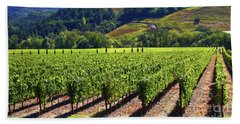 Vineyards In Sonoma County Bath Towel