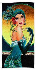 Vintage 1920s Fashion Girl  Bath Towel