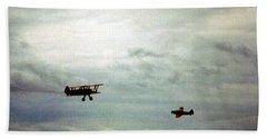 Vintage Airplanes Bath Towel