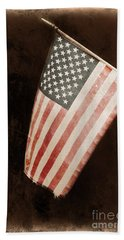Hand Towel featuring the photograph Vintage America by Barbara S Nickerson