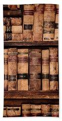 Vintage American Law Books Bath Towel by Jill Battaglia
