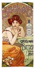 Vintage Art Nouveau Bechers Original Bitter 1807 Bath Towel