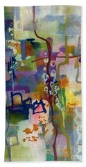 Bath Towel featuring the painting Vintage Atelier 2 by Hailey E Herrera
