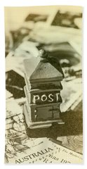 Vintage Australian Postage Art Bath Towel