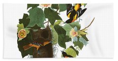 Bath Towel featuring the digital art Vintage Baltimore Orioles Audubon  by Joy McKenzie