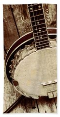 Vintage Banjo Barn Dance Bath Towel by Jorgo Photography - Wall Art Gallery