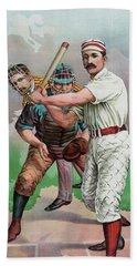 Vintage Baseball Card Hand Towel by American School