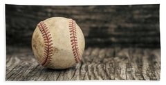 Vintage Baseball Hand Towel by Terry DeLuco