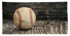 Vintage Baseball Hand Towel