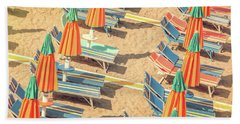 Vintage Beach Hand Towel