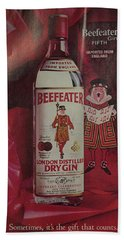 Vintage Beefeater Gin Advertisement Hand Towel