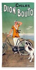 Vintage Bicycle Advertising Hand Towel