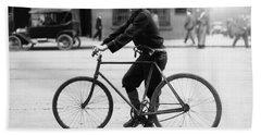 Vintage Bike Messenger - Alabama - 1914 Hand Towel