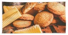 Vintage Butter Shortbread Biscuits Hand Towel