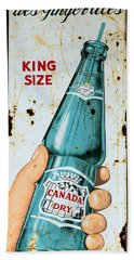 Vintage Canada Dry Sign Bath Towel