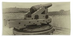 Vintage Cannon At Fort Moultrie Hand Towel