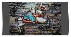 Vintage Carousel Horse Hand Towel