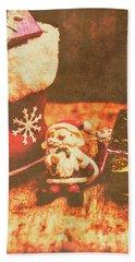 Vintage Christmas Art Hand Towel