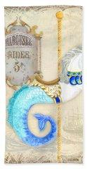 Vintage Circus Carousel - Seahorse Bath Towel