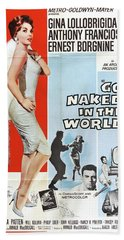 Vintage Classic Movie Posters, Go Naked In The World Bath Towel