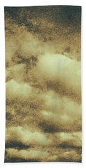 Vintage Cloudy Sky. Old Day Background Bath Towel
