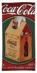 Vintage Coca Cola Original 6 Pack Hand Towel