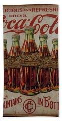 vintage Coca Cola sign Bath Towel