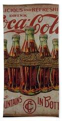 vintage Coca Cola sign Hand Towel